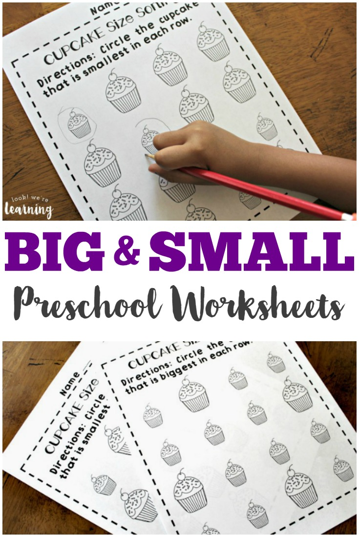 Preschool Worksheets Big and Small Worksheets for Preschool – Big and Small Worksheets