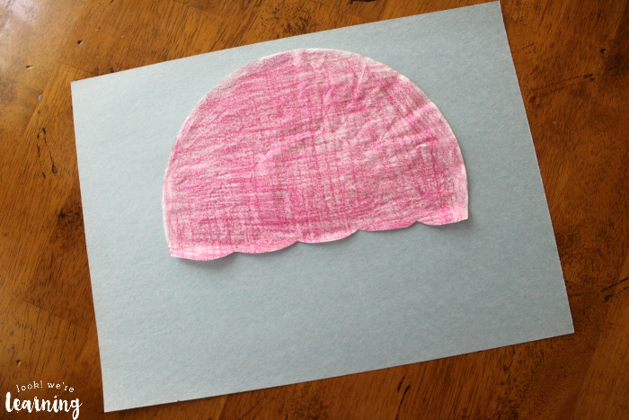 Preschool Coffee Filter Cupcake Craft