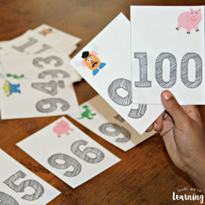 Preschool Counting to 100 Flashcards for Kids
