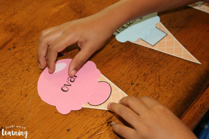 Preschool Shape Sorting with Ice Cream