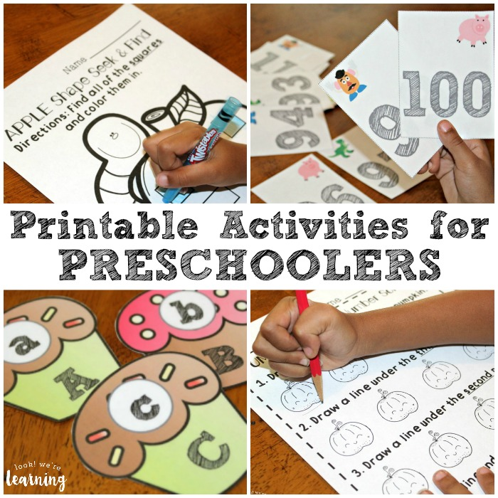 Printable Activities for Preschoolers