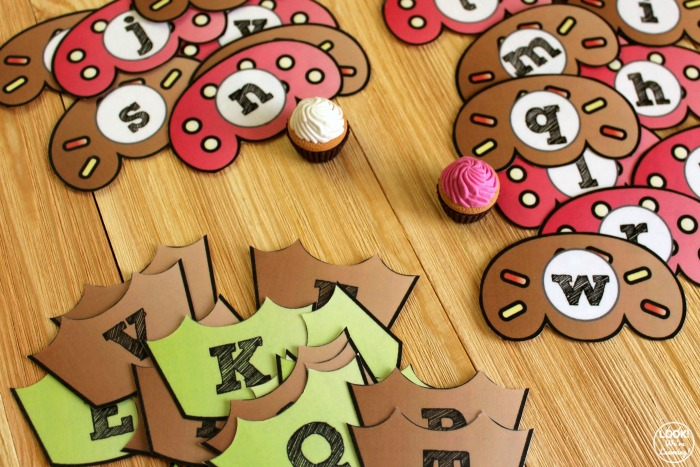 Printable Cupcake Letter Matching Activity for Preschool