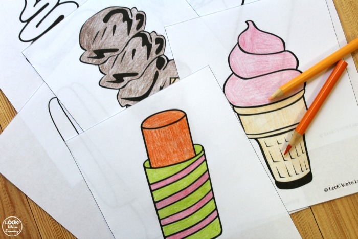 Printable Ice Cream Coloring Pages