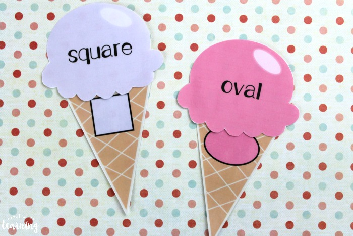Printable Ice Cream Shape Sorting Activity for Kids