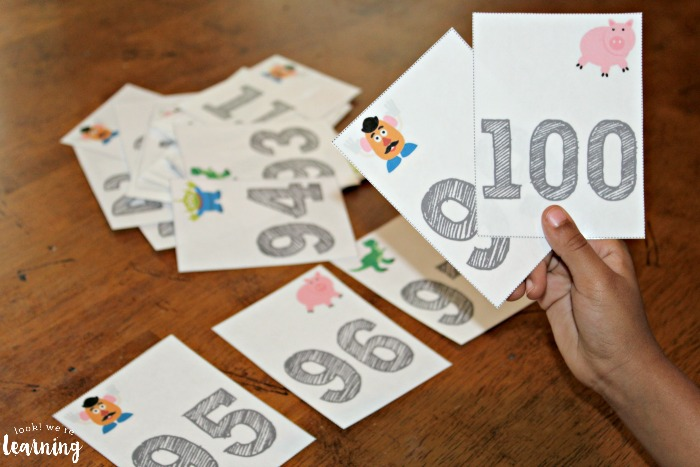 Printable Preschool Counting to 100 Flashcards