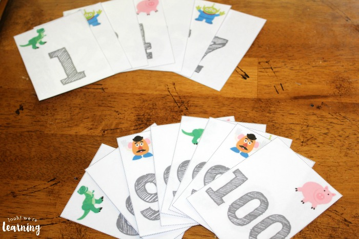 Printable Toy Counting to 100 Flashcards