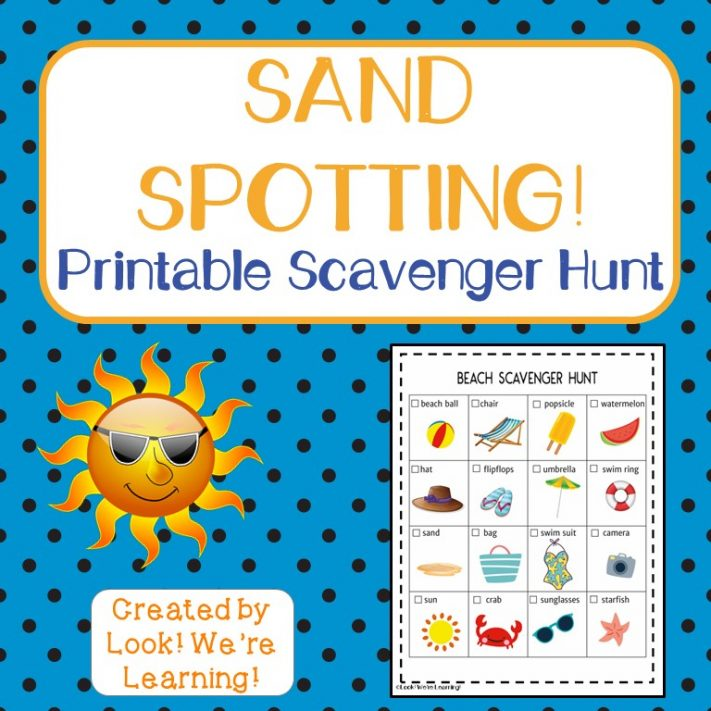 Sand Spotting Beach Scavenger Hunt