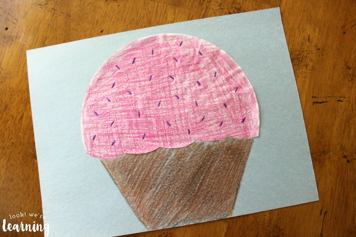 Simple Coffee Filter Cupcake Craft