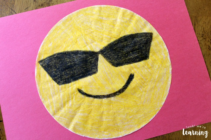 Simple Coffee Filter Emoji Craft