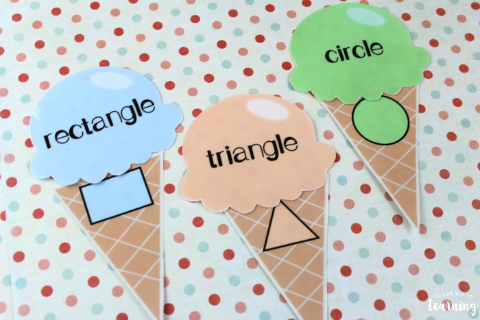 Simple Ice Cream Shape Sorting Activity