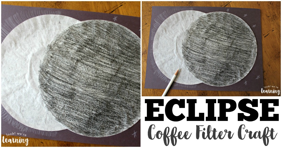 Simple and Fun Coffee Filter Solar Eclipse Craft for Kids