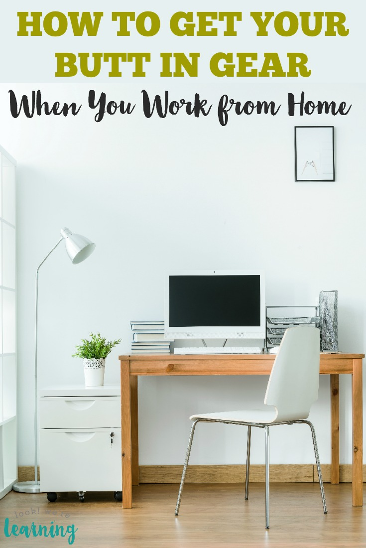 There are so many ways to lose focus and motivation when you're working from home. Here are the work at home productivity tips I use to get my butt in gear as a WAHM!