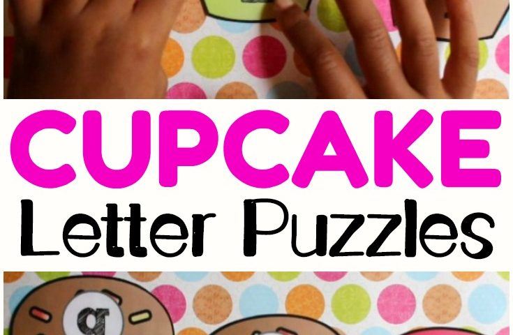 Uppercase and Lowercase Cupcake Letter Matching Activity