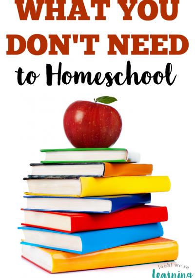 What You Don't Need to Homeschool