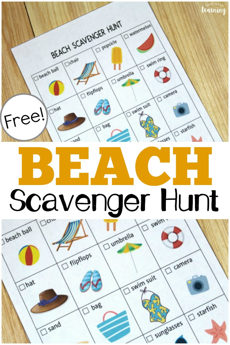 This free printable beach scavenger hunt is a fun way to help the kids spot what they can at the beach!