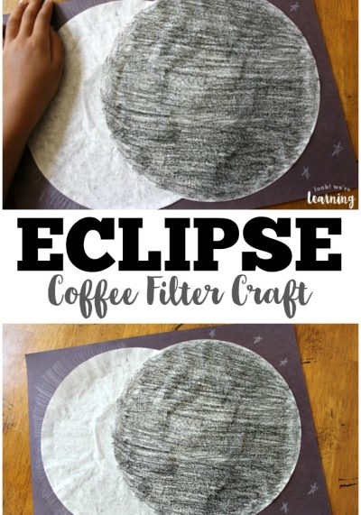 Coffee Filter Crafts for Kids: Coffee Filter Solar Eclipse Craft