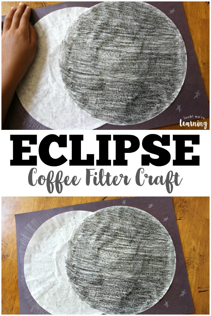 This fun coffee solar eclipse craft is a wonderful outer space activity for kids!