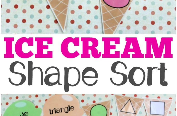 Ice Cream Preschool Shape Sorting Activity