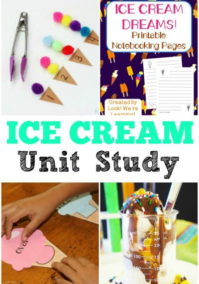 This ice cream unit study is a perfect way to keep kids excited about learning over the summer!