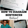 Use this fun online sentence diagramming program to teach kids how to diagram sentences!