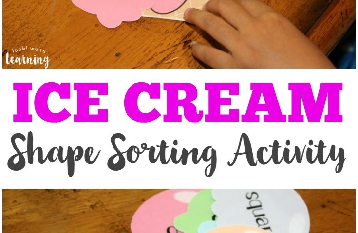 Ice Cream Preschool Shape Sorting Activity