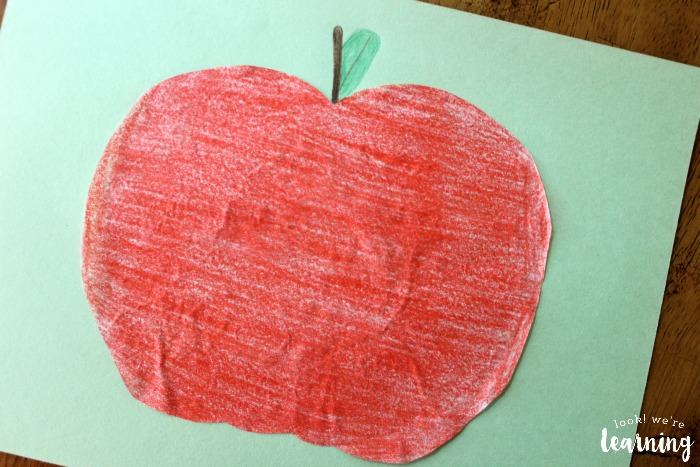Apple Coffee Filter Craft for Kids