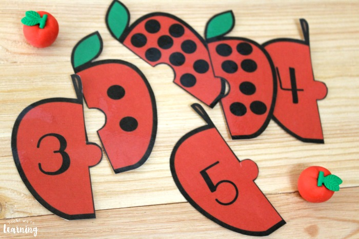 Apple Counting Puzzles for Kids