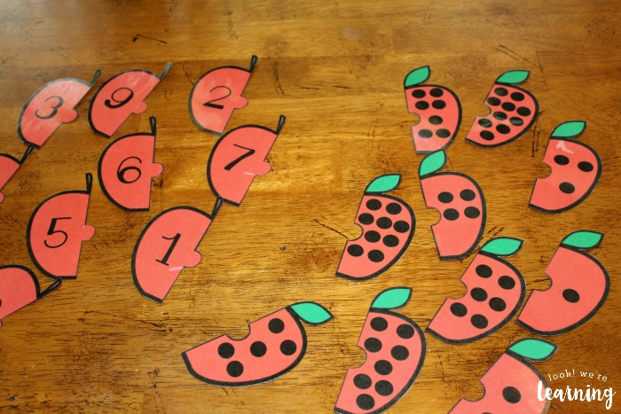Apple Counting Puzzles for Preschool