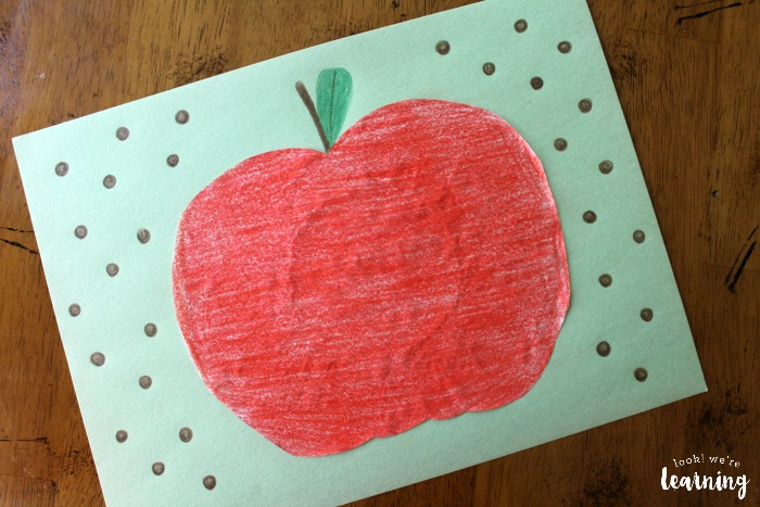 Coffee Filter Apple Craft for Kids