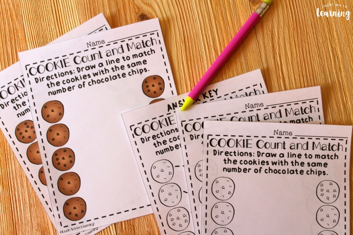 Cookie Themed Counting to Ten Worksheets for Kids