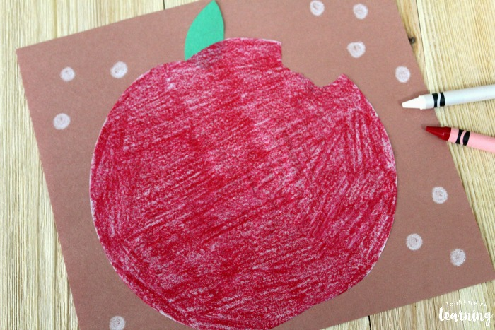 DIY Coffee Filter Apple Craft for Kids