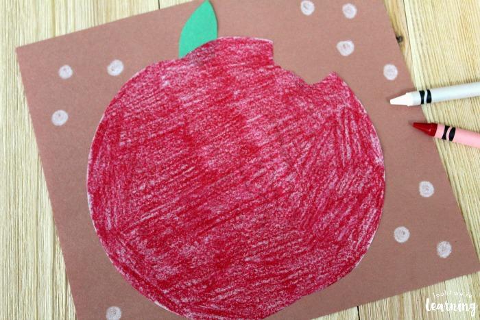 DIY Coffee Filter Apple Craft for Kids