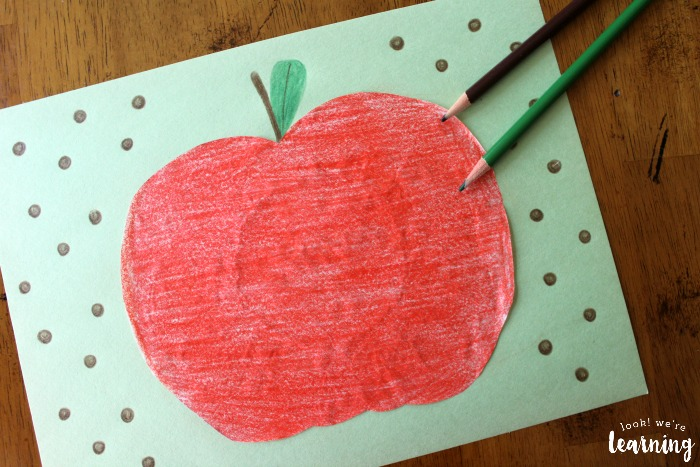 Easy Coffee Filter Apple Craft