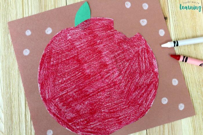 Easy Coffee Filter Apple Kids Craft