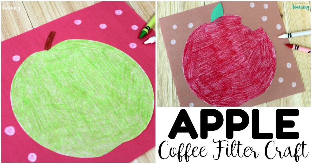 Easy and Fun Coffee Filter Apple Craft for Kids
