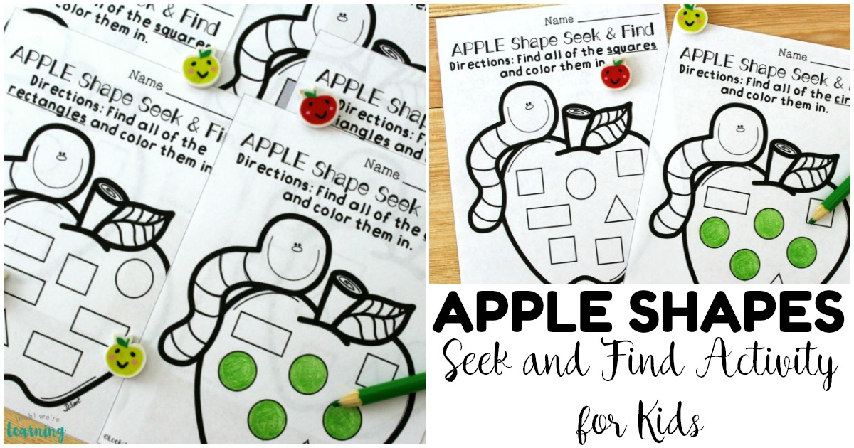 Fun Apple Shape Sorting Worksheets for Kids