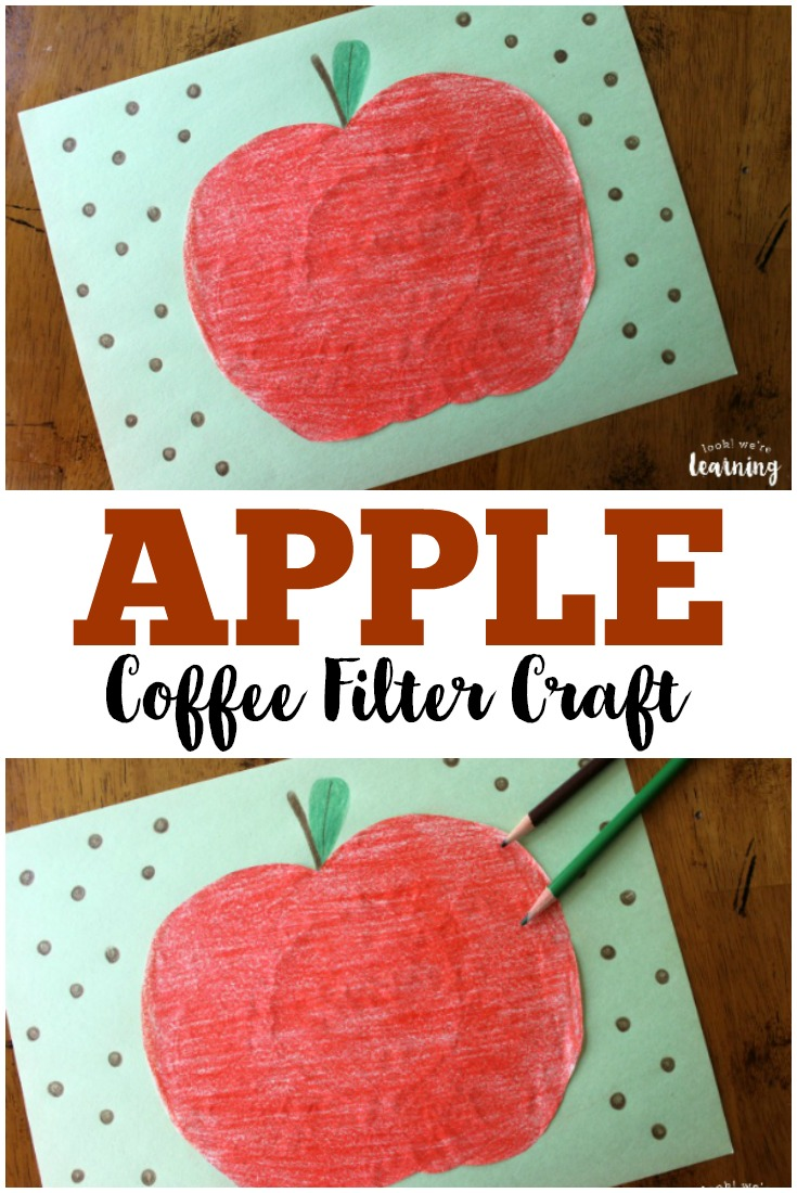 Coffee filter crafts for kids coffee filter pumpkin craft for Coffee crafts