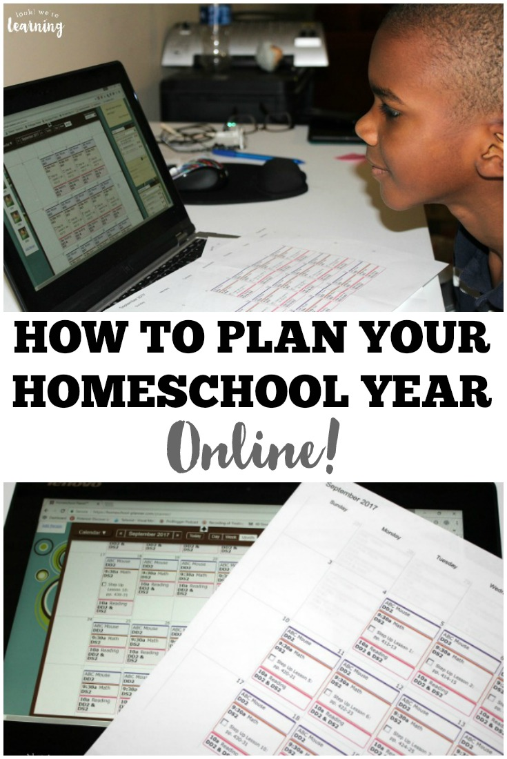 Learn how to use an online homeschool lesson planner to make planning for the new homeschool year easier!