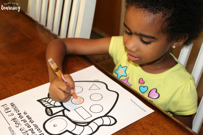 Learning with Shapes Worksheets for Preschool