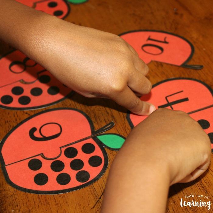 Preschool Counting Puzzle Activity