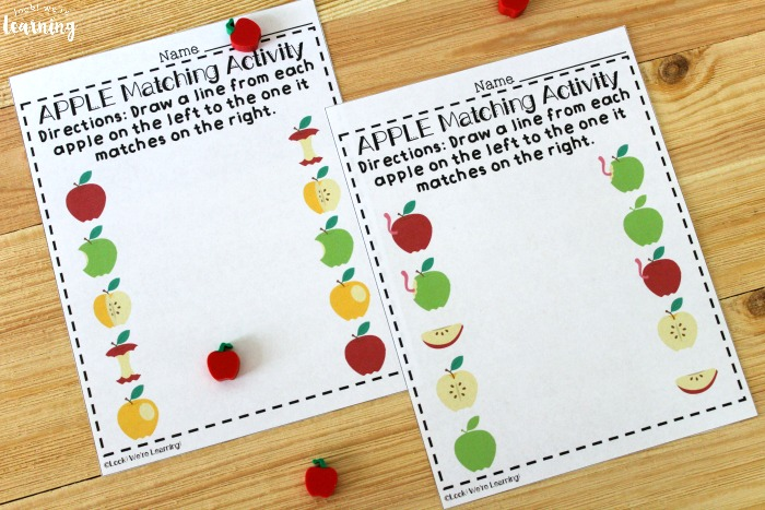 Preschool Matching Worksheets for Kids