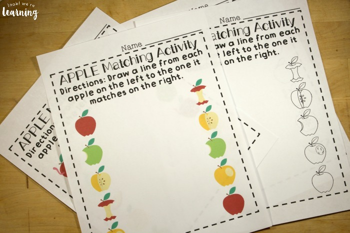 Preschool Matching Worksheets