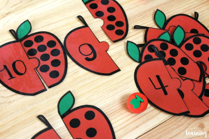 Printable Apple Counting Puzzles for Kids