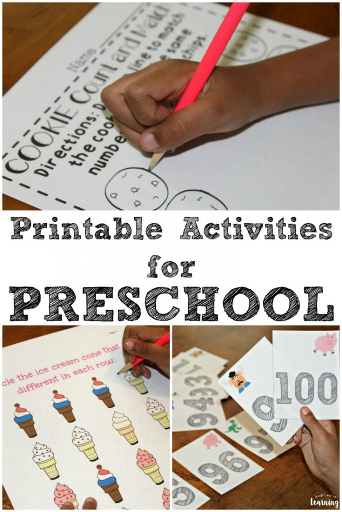 Ready to get your little ones learning? These printable preschool worksheets and activities feature fun themes and hands-on learning for little ones!