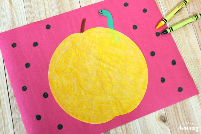 Simple Yellow Apple Coffee Filter Craft