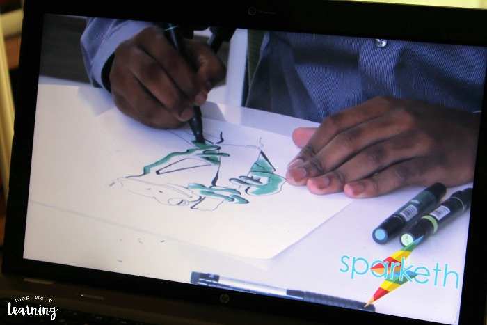 Sparketh Online Art Lessons for Kids