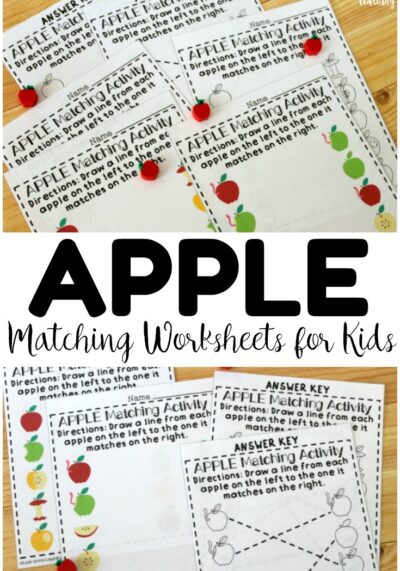 These no prep apple matching worksheets for preschool are excellent for teaching the concept of same and different with a fun fall theme!