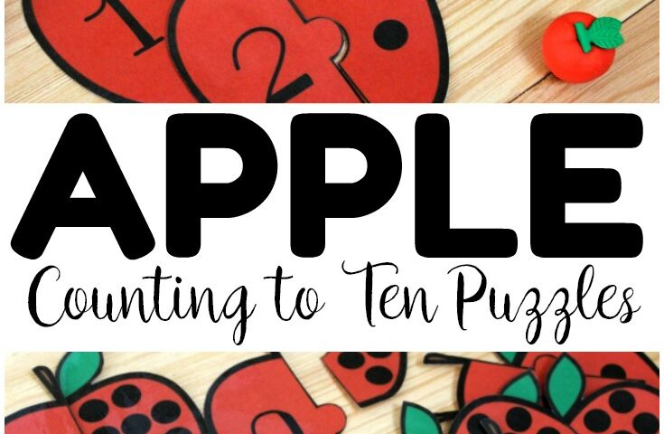 Apple Count! Apple Preschool Counting Puzzles