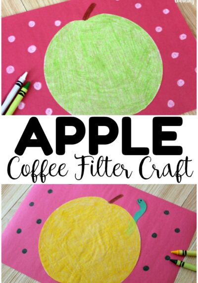 Coffee Filter Crafts for Kids: Coffee Filter Apple Craft