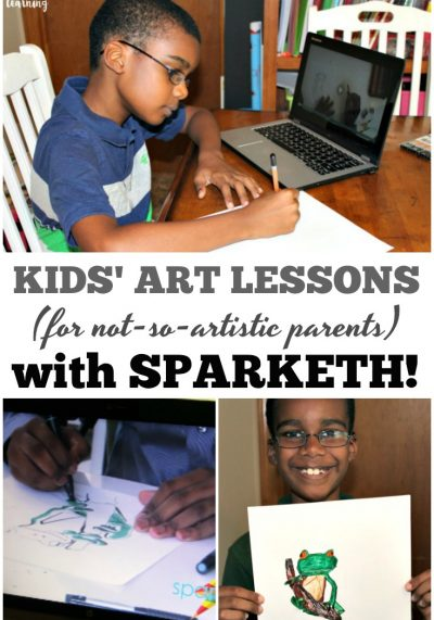 Worried about how to teach art when you're not really artistic Sparketh is a wonderful and easy art program for kids!